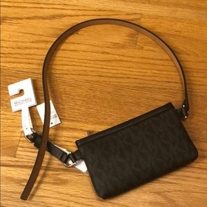 Michael kors genuine leather fanny pack